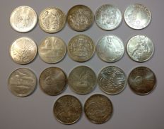Portugal – 17 coins from the Portuguese Republic, 1000 Escudos face value