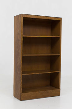 Attributed to P.E.L. Izeren for Genneper Molen - The Hague School open bookcase