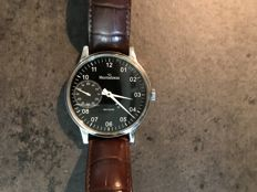 Meistersinger Scrypto Mechanic Unitas - exhibition caseback- rare model 2011