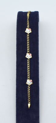 Children gold 14 k bracelet - 15.5 cm