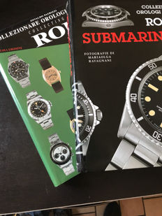 Rolex – 2 marvellous books about collecting watch – 'Collecting Rolex' edited by Guido Mondavi in collaboration with Osvaldo Patrizzi, in Italian and English – 'Rolex Submariner' in Italian, edited by Guido Mondavi – Lele Ravagn