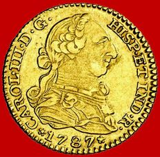 Spain – Carlos III (1759–1788) – 1 gold escudos. Madrid, 1787. DV.