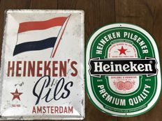 Magnificent tin Heineken advertising signs - Netherlands - 2nd half 20th century
