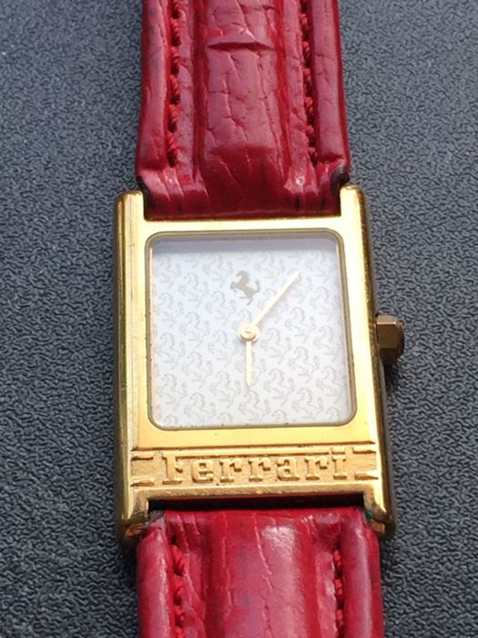 Ferrari Formula exclusive 18 kt gold rarity - Original genuine leather bracelet