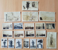34 original photographs taken of, or on board the White Star Line ship S.S. Majestic.