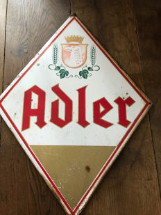 Magnificent authentic Belgian Adler advertising sign - Belgium - 1964