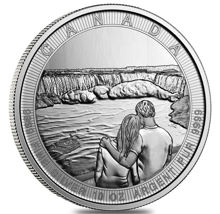 Canada - 50 Dollar 2017 Canada the Great - Niagarafälle - 10 Oz - Zilver