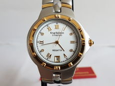 Krug-Baümen - Women's wristwatch - New condition, never worn, with original box and diamonds authenticity papers.