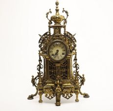 Bronze Table Clock, 20th Century (in working order), 12kg