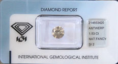 Round Brilliant 1.53 ct Natural Fancy Grey Yellow-IGI