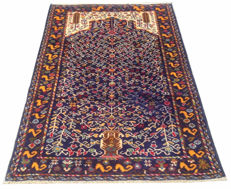Unique Design Afghan Hand Knotted Balouch Herati Area Rug 161 cm x 107 cm