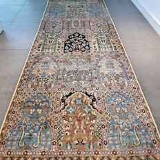 Fantastic Kashmir runner with a tile pattern – 100 x 273 cm – in very good condition