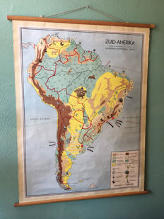 School map South America