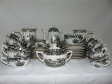 Alt England Rosslau porcelain - Tea set - 43 pieces