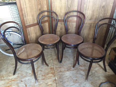 Thonet - 4 bentwood chairs