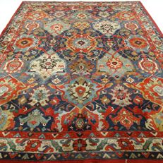 "German Tetex Tabriz – 340 x 250 cm – ""Art-Deco – XL – Oriental carpet in beautiful condition"" – With certificate"