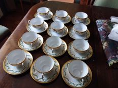 Haviland porcelain tea set - Grand Siecle Collection