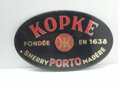 Old glasoline porto kopke advertising sign - Belgium - 1951.