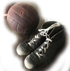 Football - very old football and soccer shoes. Original & rare