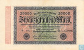 Germany 20,000 Mark (P85d - Ros.84h)