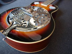 ChS Spider Resonator, colour sunburst, with bag, Dobro model