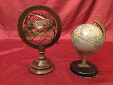 Collectable globes, England mid-20th century