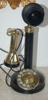 Beautiful working brass phone.