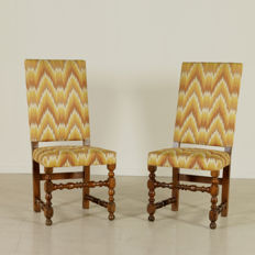 A pair of Italian chairs - end of the 17th century / beginning of the 18th century