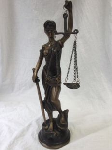 Lady Justice statue, second half of 20th century