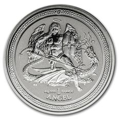 Great Britain - 1 oz Angel Isle of Man 2016 - Archangel/Dragon Slayer - 999 fine silver reserve proof