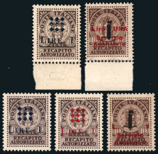 Local Guidizzolo-issued stamps – Complete series of 5 values.