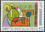 The year 2000 on a postage stamp