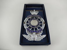 "RAC The Royal Automobile Club Centenary 1897 - 1997 New In Box Car Auto Badge Approx 5"" x 3"""