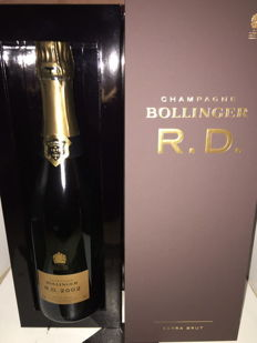 2002 Bollinger RD Extra brut champagne - 1 bottle (75cl) with gift box