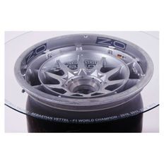 Sebastian Vettel Red Bull RB9 2013 Used F1 Front Wheel Coffee Table Display