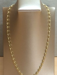 18 kt gold chain for men, 63 cm