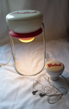 Grolsch lamp and radio - flip-top model - second half 20th century