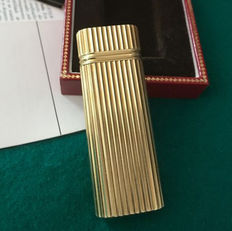 Lighter de Cartier, solid gold coated