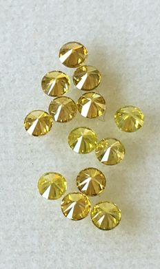 Lot of 13 Natural diamonds ct. 1.08 No reserved price