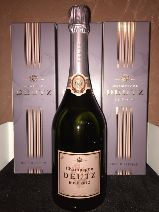 2012 Champagne Deutz Rosé - 3 bottles (75cl)