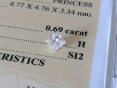 Diamond – 0.69 ct - H/SI2 - VG/VG ** No Reserve **