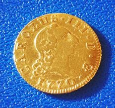 Spain, 1/2 gold escudo, 1770, Fernando VII, Madrid PJ.