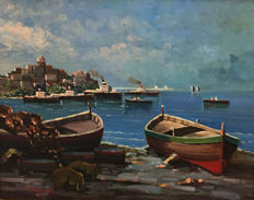 Attributable to Ezelino Briante (1901 - 1971) - Marina di Napoli