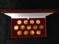 Real 1000/1000 silver wedding coins with a 24 k gold finish
