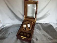 Watch Winder for 2 + 3 Watches, with LED Light