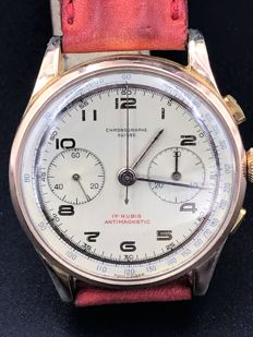 Chronographe Suisse – Two sub-dials – Late 1940s