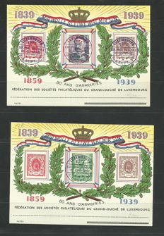 Luxembourg 1939 – 12 cards C6/C6a – six of each, cancelled by F.S.P.L.