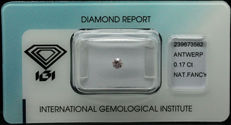 Natural Fancy Pink Diamond , 0.17 ct. Certificate IGI Antwerp. Low reserve.