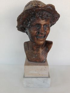 "Bronze sculpture ""Scugnizzo"", recast after Giovanni De Martino - Italy - mid XX century"