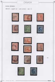 Canada 1859/64 – Assorted subjects – normal perforated sheet 12 series